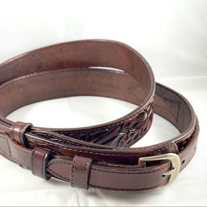 Genuine Leather Detailed Brown Belt